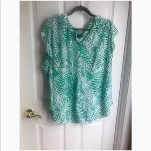 Talbots Palm Blouse (Plus Size)
